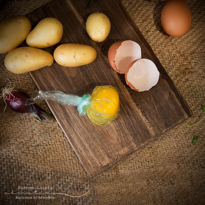 salade de pommes de terre r ties uf mollet recettes et mirettes. Black Bedroom Furniture Sets. Home Design Ideas