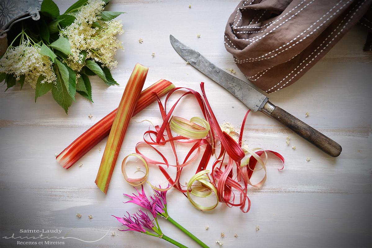 Que Faire Des Fleurs De Rhubarbe gÂteau À la rhubarbe et fleurs de sureau